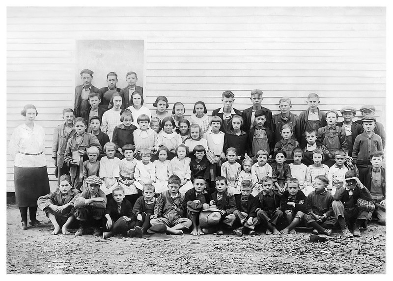 Jesse M Myers grade school - most likely front row fifth from right