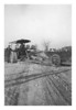 Clarence Myers and unknown with road grader probably in Brown County Indiana