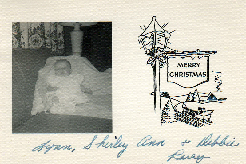Lynn, Shirley Ann and Debbie Rarey Christmas card