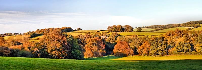 The Chess Valley in Bucks in autumn sunshine
