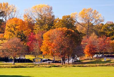Gadebridge Park in Hemel Hempstead in Autumn
