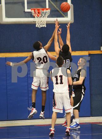 Boys Varsity Basketball, Excelsior @ Hesperia Christian, 1/28/11