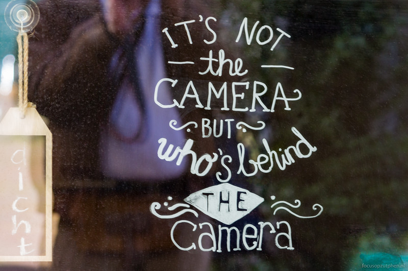 It's not the camera....