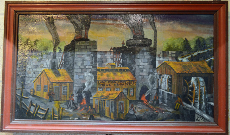 Painting of the Long Pond Ironworks