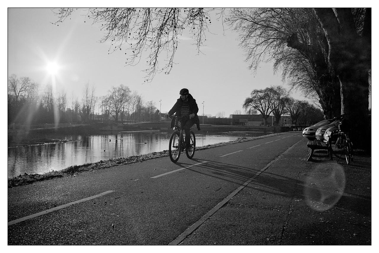 Strasbourg, La piste cyclable parc du Heyritz
