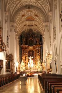Stadtpfarrkirche Mariae Himmelfahrt in Landsberg am Lech, Germany.