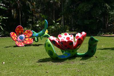Polyethylene sculptures by Yayoi Kusama