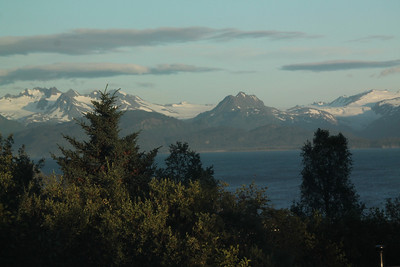 Outside of our hotel window in Homer, Alaska.