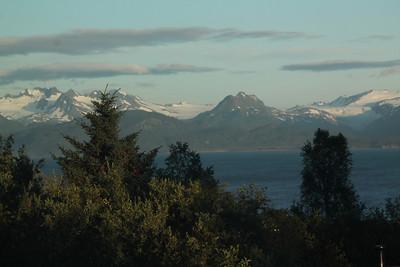 Outside of our hotel window in Homer, Alaska.