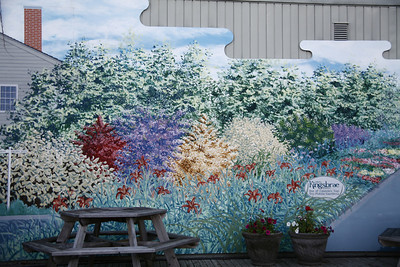 Mural on side of building in St. Andrews, New Brunswick