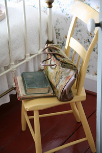 chair in Anne's room; reminded me of chair painting by Vincent Van Gogh