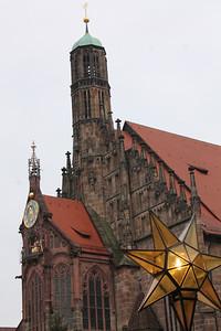 Frauenkirche, overlooks the Christkindlesmarkt.
