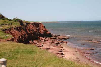 Eastern shoreline of Prince Edward Island. The red mud has been used to dye shirts, called Mud Shirts!