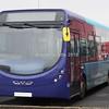 Arriva North East Streetlite Max DF NK67 EDU body no, AQ523 Sapphire livery