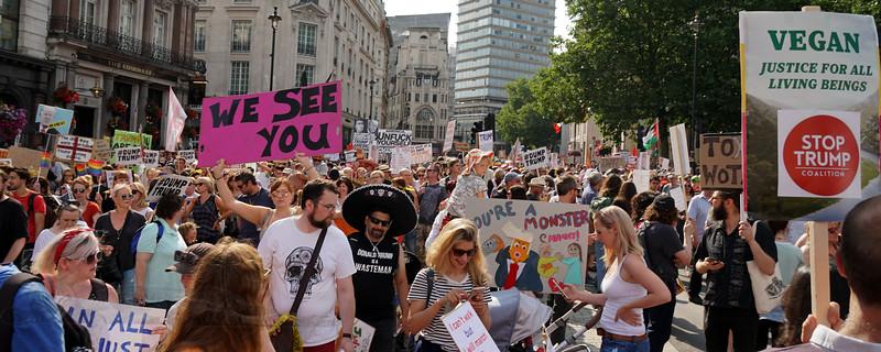 Anti Trump Visit Demonstration - London