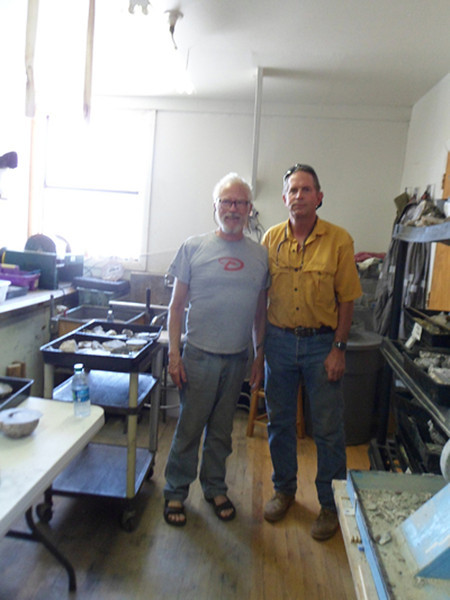 WIth Kevin at The Spanish Stirrup rockshop in Deming, home of the Lava Cap thundereggs. 2013, see him and his kind wife Lori on Flickr.
