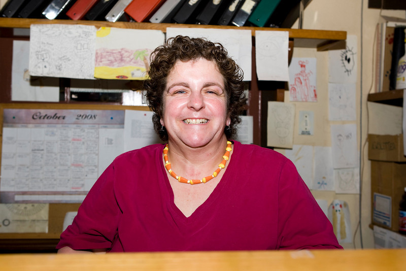 Liz our friendly receptionist...