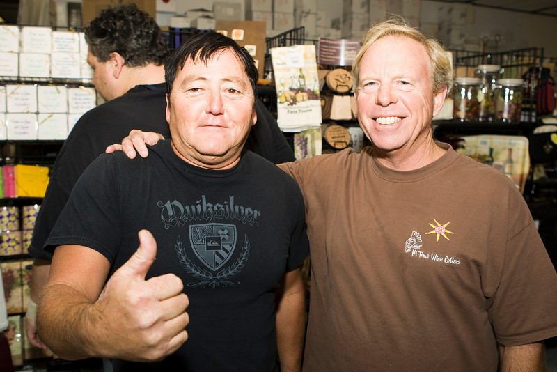 Jesse from Perry's Pizza and our own Alan H.