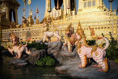 White Lion, the Royal Crematorium for His Majesty King Bhumibol Adulyadej