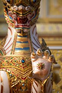 Detail of the Rajasiha (Mythical  Lion-King), the Royal Crematorium for His Majesty King Bhumibol Adulyadej