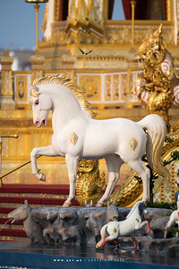 Horse at the West Side of the Crematorium for His Majesty King Bhumibol Adulyadej