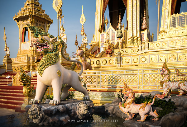 Lion, the east side of the Crematorium for His Majesty King Bhumibol Adulyadej