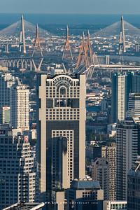 Banyan Tree Bangkok Hotel, Bhumibol Bridge & Bangkok Cityscape view from Baiyoke Sky Hotel