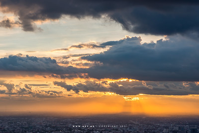 Sunset at Baiyoke Sky Hotel