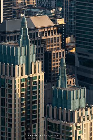 The Park Chidlom & Bangkok Cityscape view from Baiyoke Sky Hotel