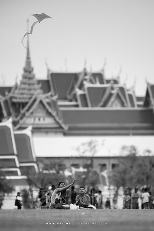 Kite flying at Sanam Luang