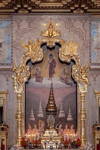 The Insignia of King Rama I -V and Phra Summa Buddha Panni,Phra Ubosot, Wat Rachathiwat