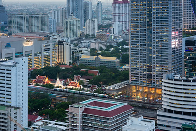Wat Pathum Wanaram view from St. Regis Bangkok