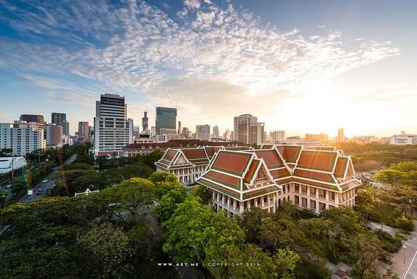 Faculty of Arts and the Main Auditorium, Chulalongkorn University