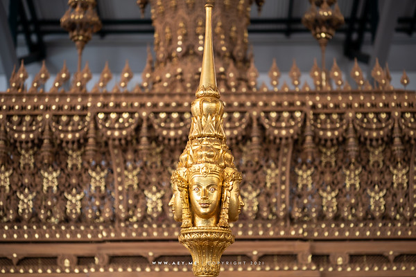 Brahma's Faces, top of the Royal Pyre, the Royal Crematorium for His Majesty King Bhumibol Adulyadej, National Museum Bangkok
