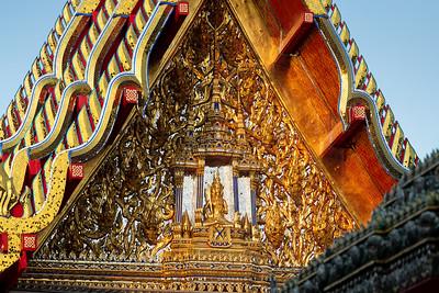 The West Pediment, Sala Karnparien (the hall for Sermons), Wat Pho (Wat Phra Chetuphonn)