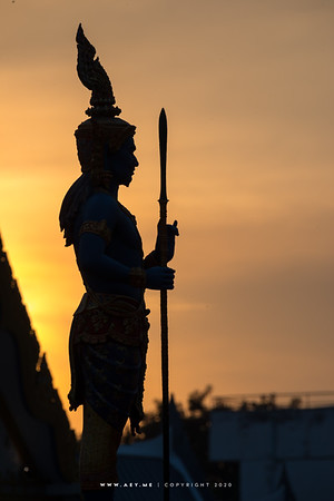 Lord Virulhaka the guardian of the South, one of the Four Heavenly Kings, the Royal Crematorium for His Majesty King Bhumibol Adulyadej