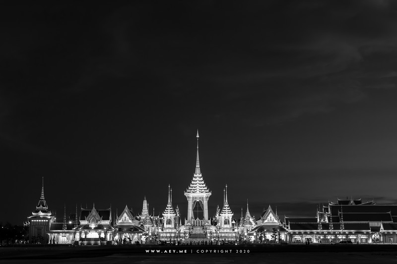 Twilight at the Royal Crematorium for His Majesty King Bhumibol Adulyadej