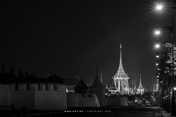 The Grand Palace and the Royal Crematorium for His Majesty King Bhumibol