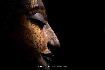 Head of Buddha Statue, Siwamokkhaphiman Hall, National Museum Bangkok