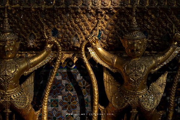 112 Garudas, Phra Ubosot, Wat Phra Sri Rattana Satsadaram (Wat Phra Kaew), Grand Palace