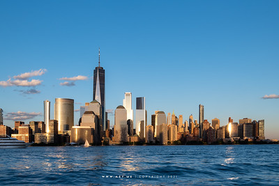 Skyline of New York City view from the Jersey City