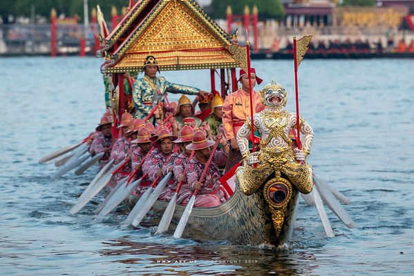 Barge Krabi Prap Muang Man, the Rehearsal for the Royal Barge Procession