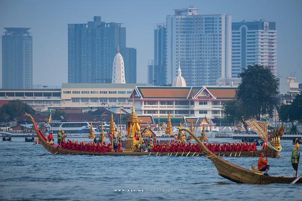 Royal Barge Anantanakkharat, the Rehearsal for the Royal Barge Procession