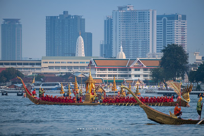 Royal Barge Anantanakkharat, the Rehearsal for the Royal Barge Procession