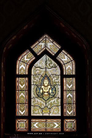 Thep Phanom, Stained Glass Window, Wat Benchamabophit