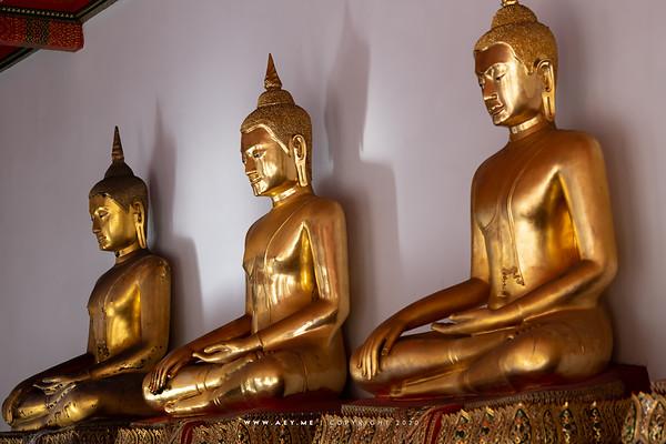 Buddha Statues, Cloister, Wat Pho (Wat Phra Chetuphon)
