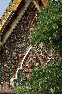 Narayana on Garuda on the North Pediment of Phra Ubosot, Wat Suwannaram