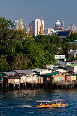 Bangkok view from 342 Bar, Baan Wanglung Riverside