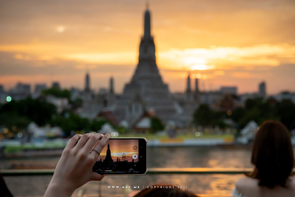 Wat Arun view from The Deck by Arun Residence