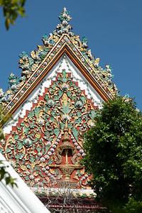 Insignia of King Rama IV (King Mongkut), Phra Ubosot, Wat Bowonniwet